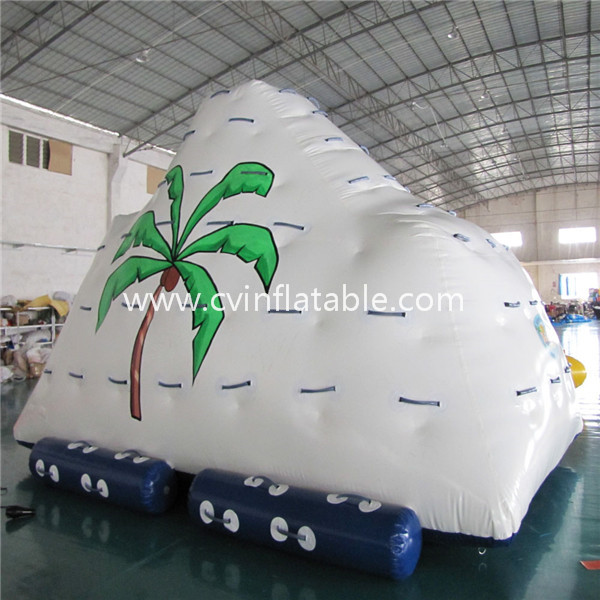 Inflatable floating iceberg water game