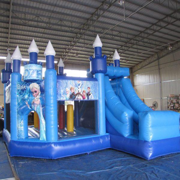 frozen inflatable bouncy castle slide combo