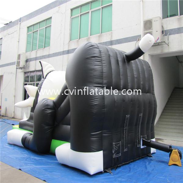 cartoon inflatable slide