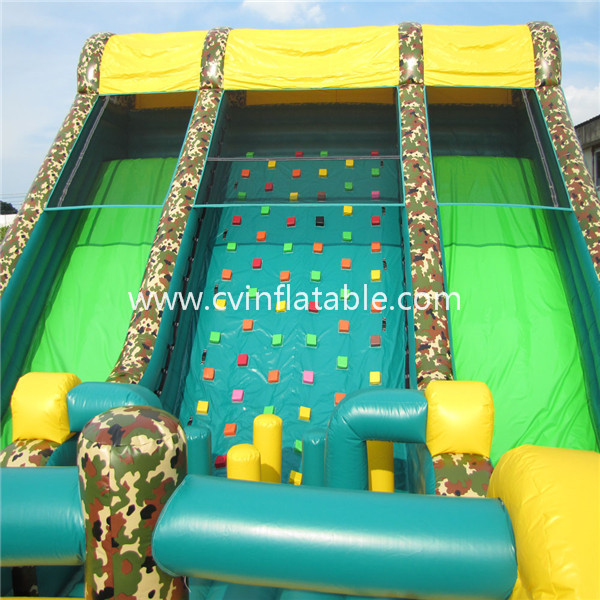 giant inflatable military obstacle course