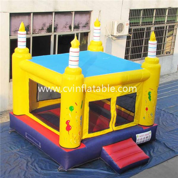 inflatable birthday cake castle