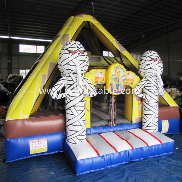 inflatable pyramid bounce house