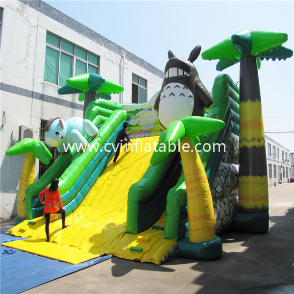inflatable tropical giant slide