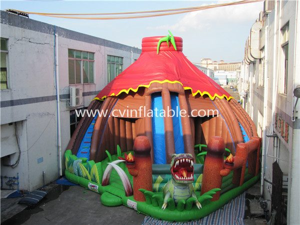 Jurassic park inflatable slide playground