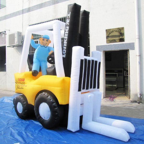 inflatable forklift cartoon model