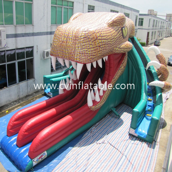 giant inflatable snake slide