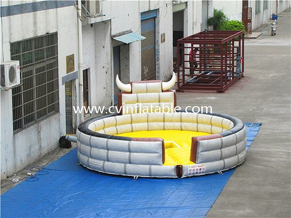 inflatable bull fight game