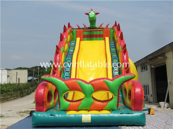 inflatable dinosaur slide
