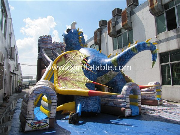 inflatable dinosaur slide