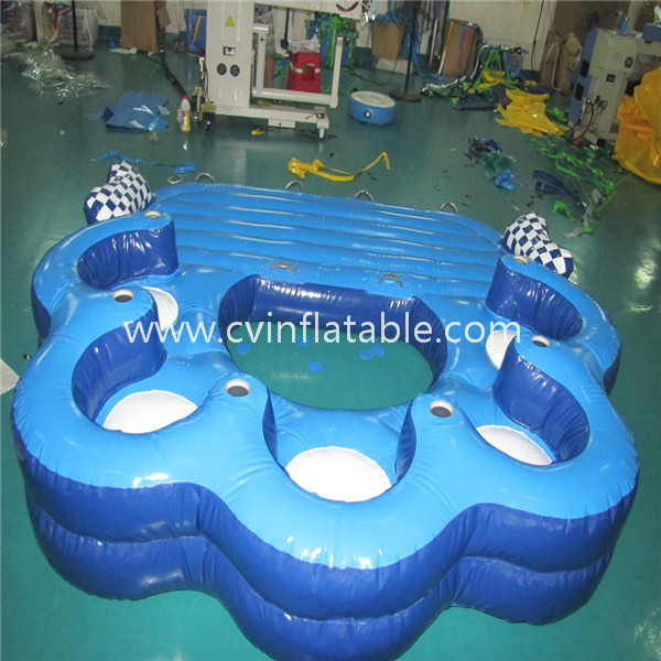 inflatable floating bed island