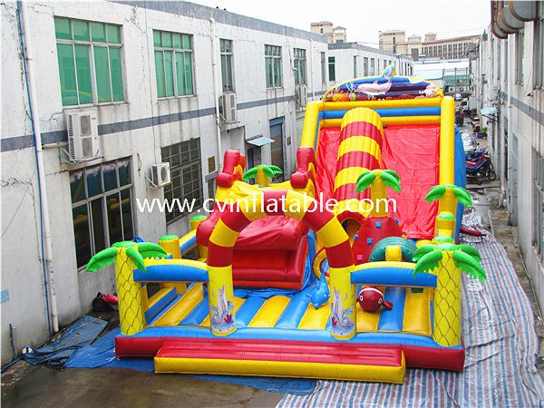 inflatable giant slide playground
