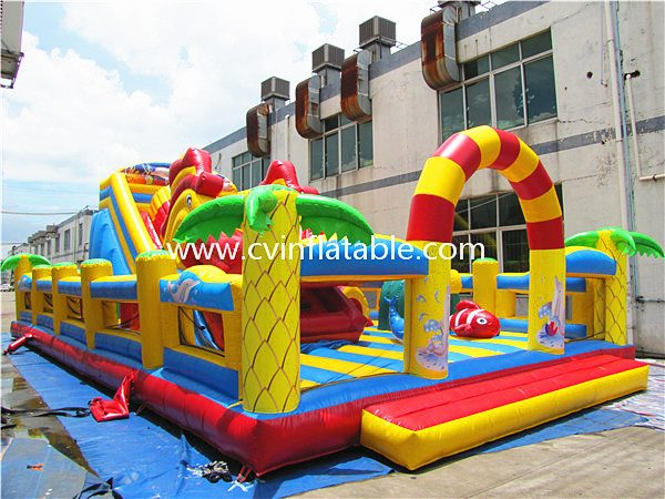 inflatable giant slide playground (3)