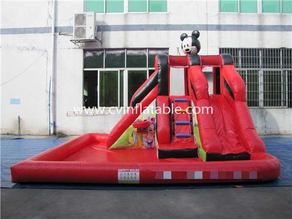 inflatable mickey mouse slide with pool (3)