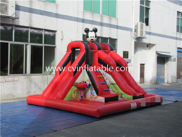 inflatable mickey mouse slide with pool (4)