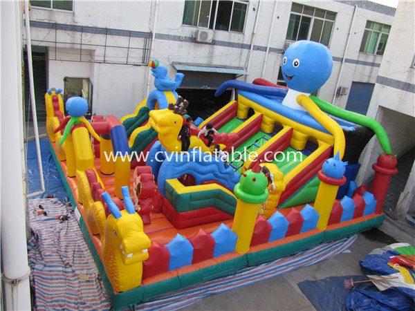 inflatable slide playground park