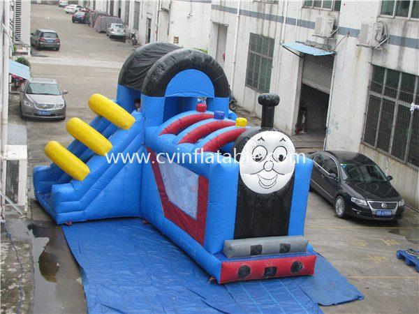 inflatable thomas train slide