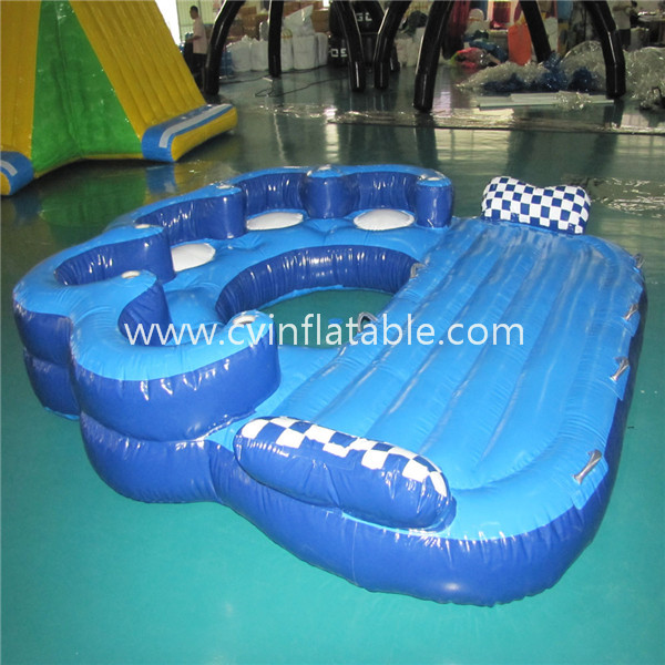 inflatable water floating bed island