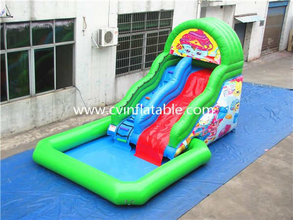 inflatable water slide with pool (4)