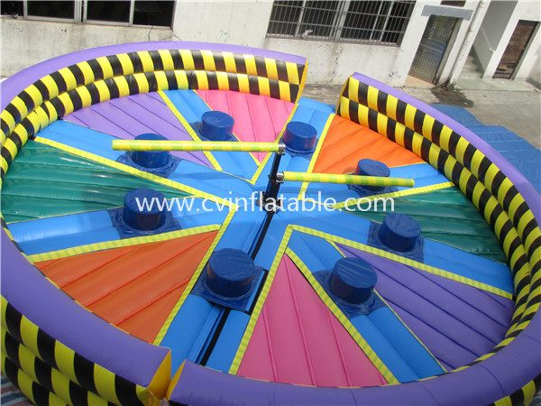 inflatable wipeout game