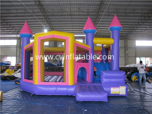 inflatable jump slide combo
