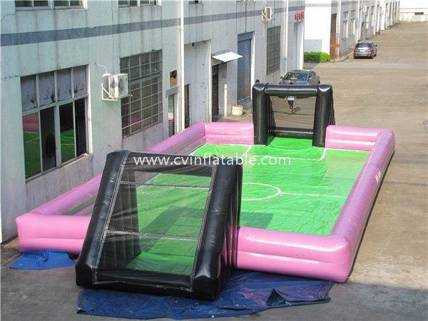 inflatable soap football field