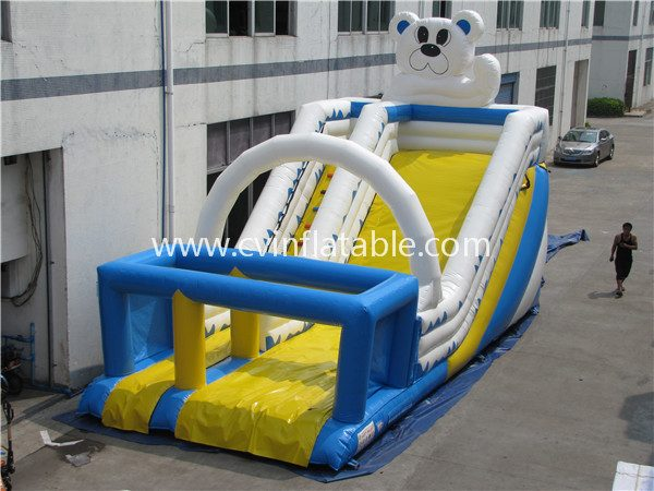 cartoon inflatable slide