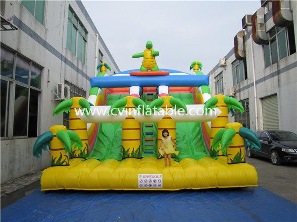 inflatable dinosaur slide (2)