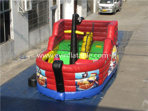inflatable pirate ship slide (2)