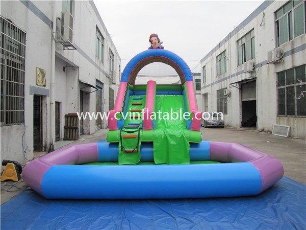 inflatable slide with pool (2)