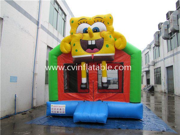 inflatable spongebob bouncer