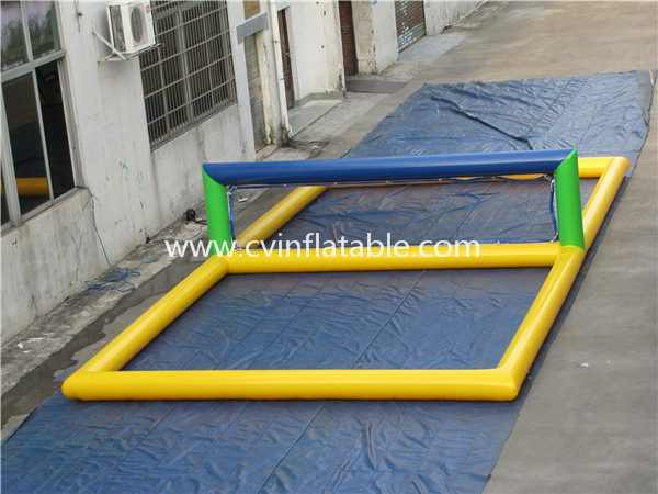 inflatable volleyball court water game (2)