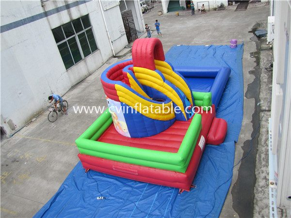 inflatable water slide with pool (16)
