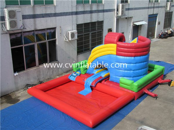 inflatable water slide with pool (19)