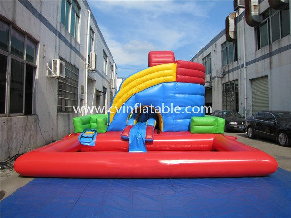 inflatable water slide with pool (20)