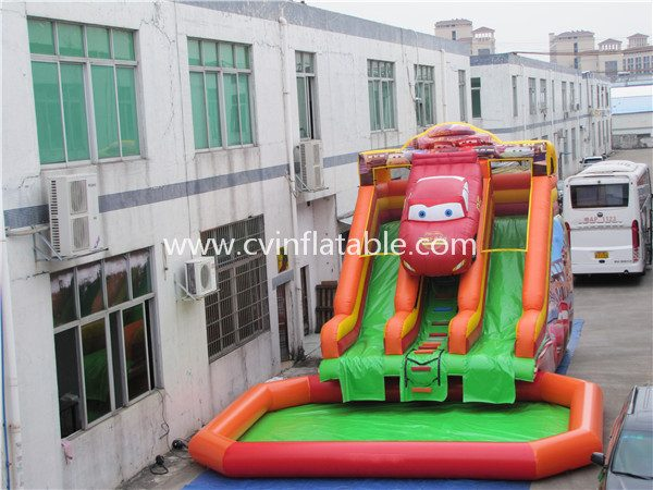 inflatable water slide with pool (21)