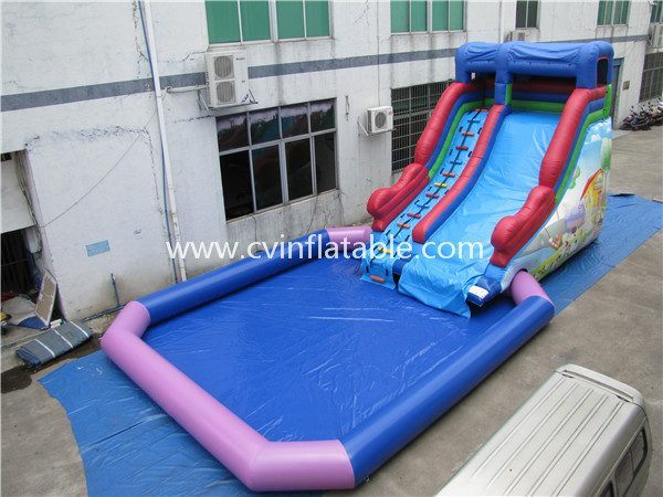 inflatable water slide with pool (23)