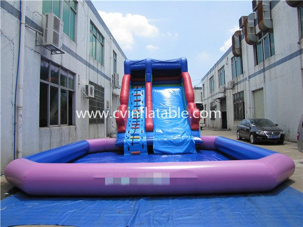 inflatable water slide with pool (24)