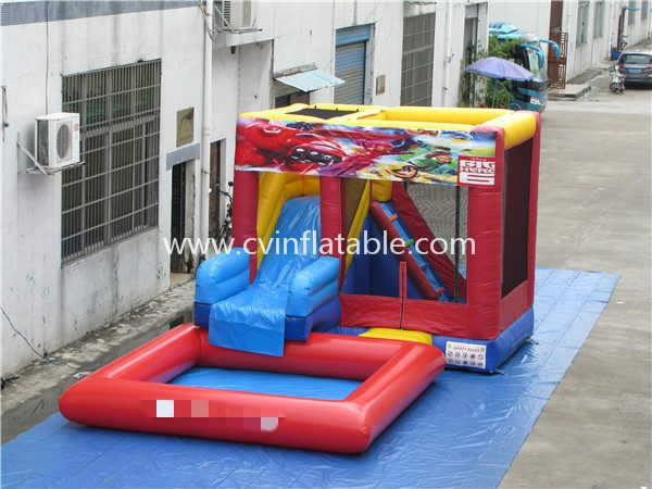 inflatable water slide with pool (25)
