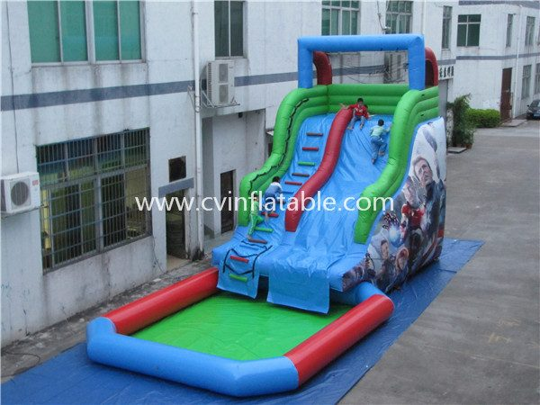 inflatable water slide with pool (9)
