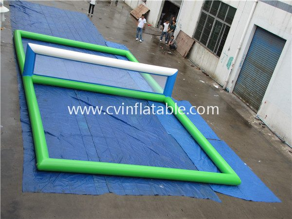 inflatable water volleyball court (3)