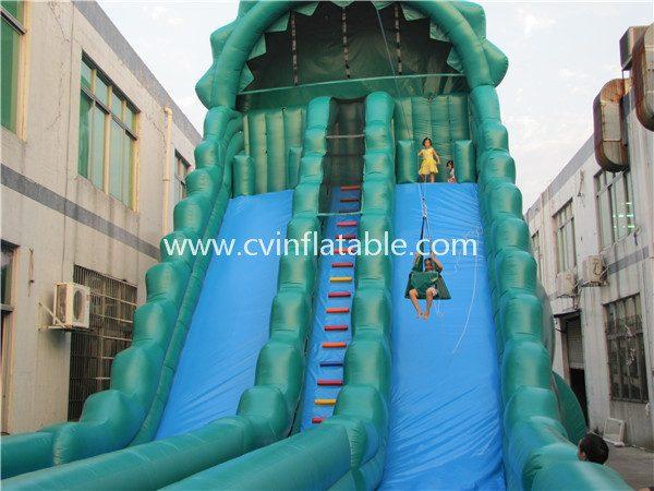 inflatable zipline slide (3)