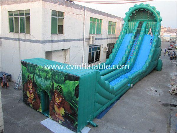 inflatable zipline slide