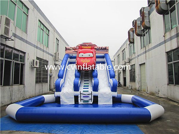 inflatable cart slide
