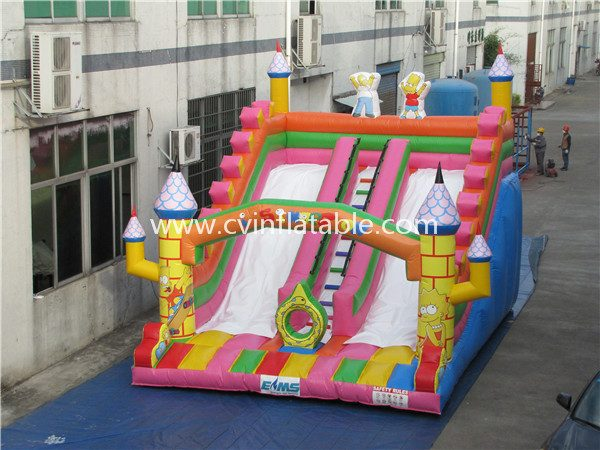 inflatable castle slide