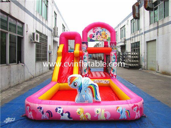 inflatable combo slide (2)