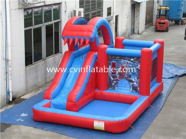 inflatable slide wtih pool