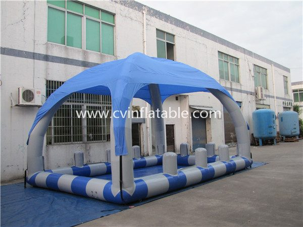 inflatable water pool with tent (2)