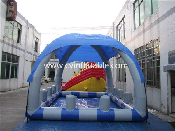 inflatable water pool with tent (3)