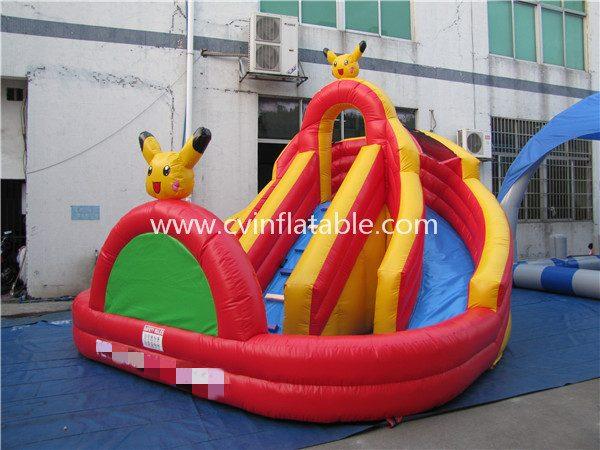 inflatable water slide pool
