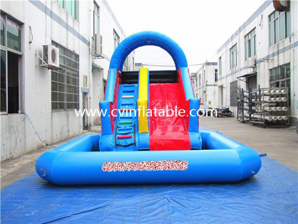 inflatable water slide with pool (2)